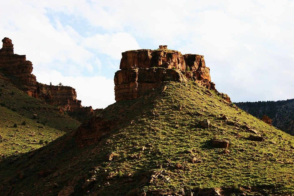 So rugged and so beautiful. This butte on the Book Cliffs made me think of a Scottish Castle
