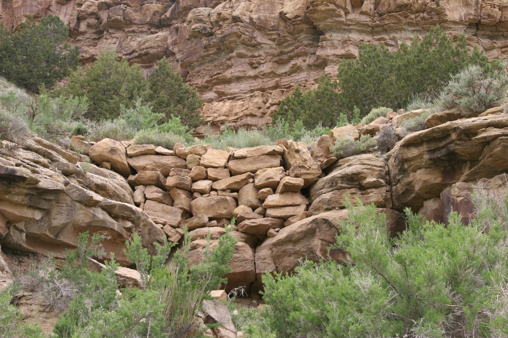 Neatly stacked rock wall after a thousand years. Somehow I don't think our leftovers are going to last the same way