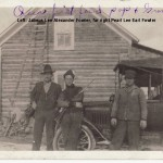 My great granpa Jabez on the far left and my beloved granpa, Pop on the right, proudly showing off their first truck.