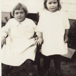 The Fowler Sisters Imogene and Darlene in 1924
