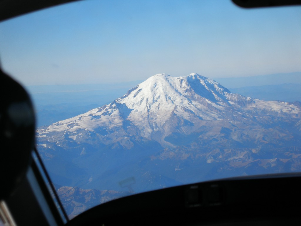 Mt Rainier means we are home.