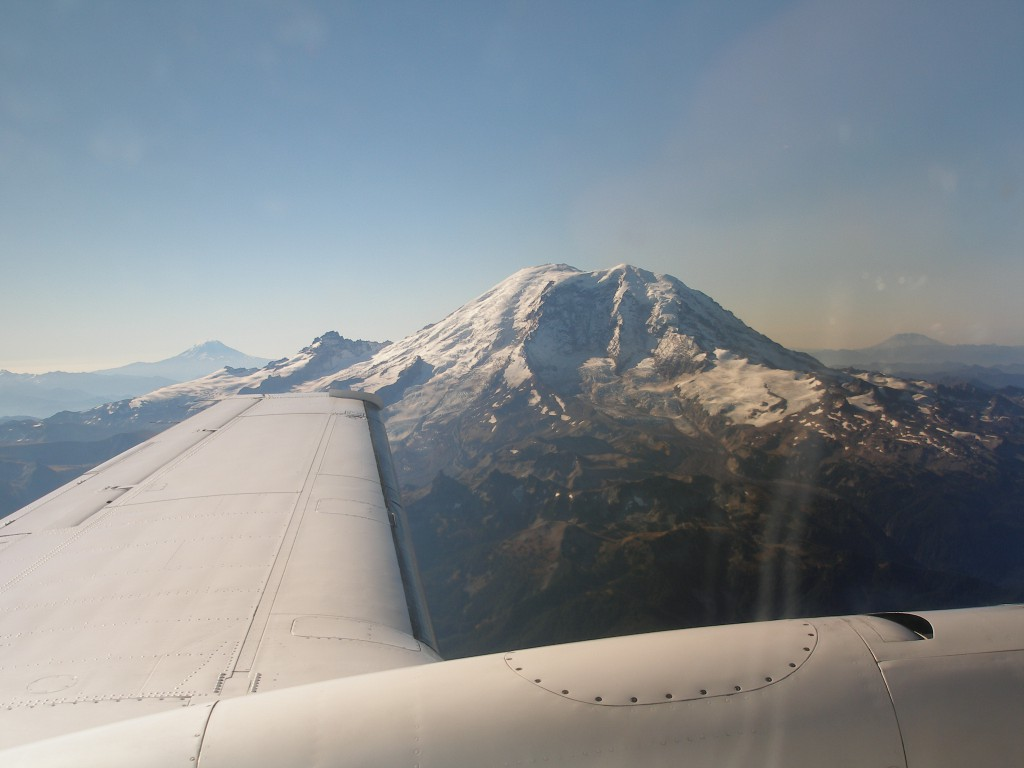 How often do normal pedestrian people see this view off the wing of a plane?